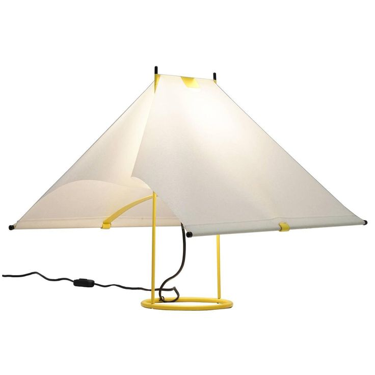 piero de martini yellow table lamp for arteluce - Modern Table Lamp