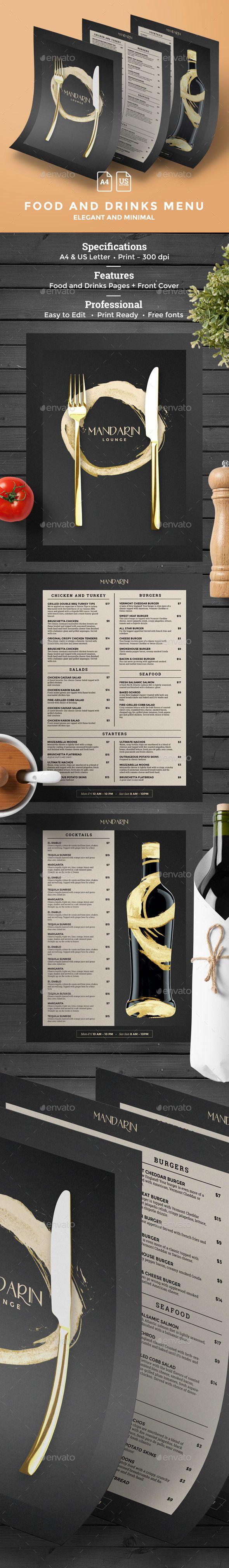 Menu Template — Photoshop PSD #loft #clean • Download ➝ https://graphicriver.net/item/menu-template/19477903?ref=pxcr