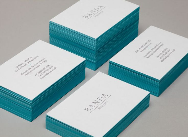 Banda Designed by & SMITH - Business Card Design Inspiration | Card Nerd