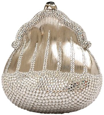 Judith Leiber handbag ~ This almost minimalist silver Chatelaine from 1967 is adorned only with clear crystal rhinestones.  Great article on how she got started...