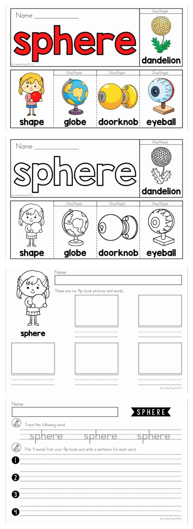 Colouring shapes activities - 3d Shapes Flip Books Color And Black And White With 2 Differentiated Worksheets