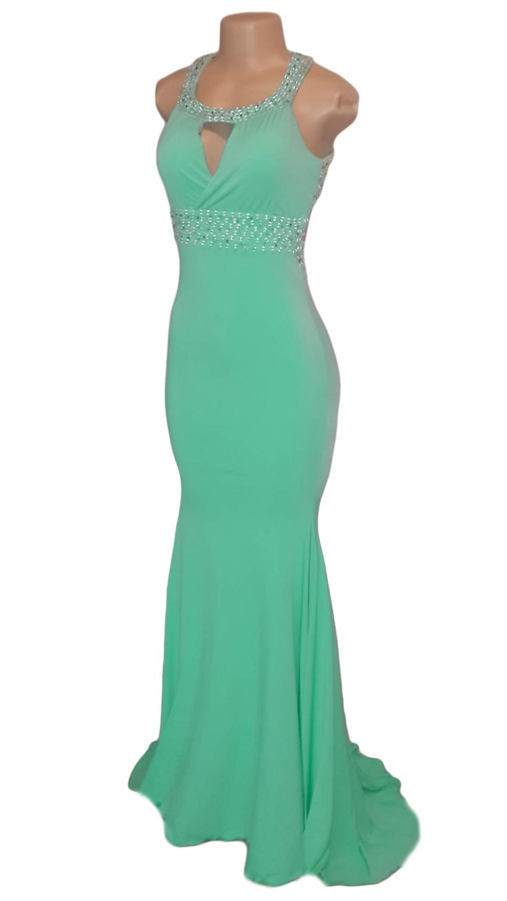 Buy Now - Beaded mint green soft mermaid matric farewell ...