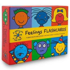 "These ""Feelings Flashcards"" by Todd Parr are a very helpful component in sessions."