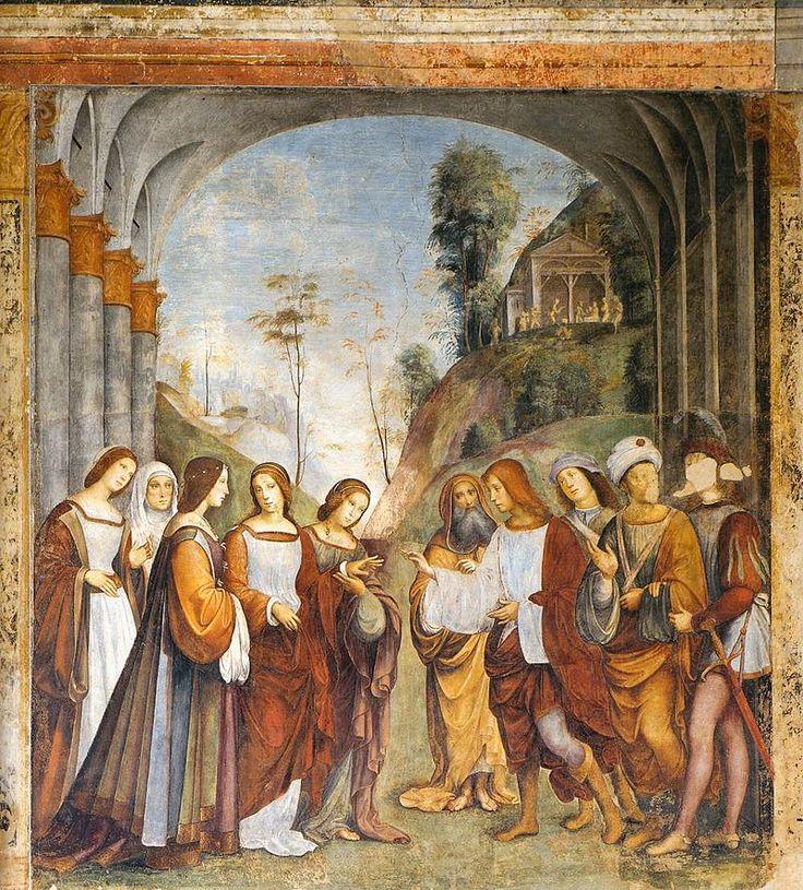 800px-Francesco_Francia,_Oratorio_di_Santa_Cecilia,_the_Marriage_of_Cecilia_and_Valerian1504-1506.jpg Свадьба Св. Цецилии и Валериана, 1504-1506