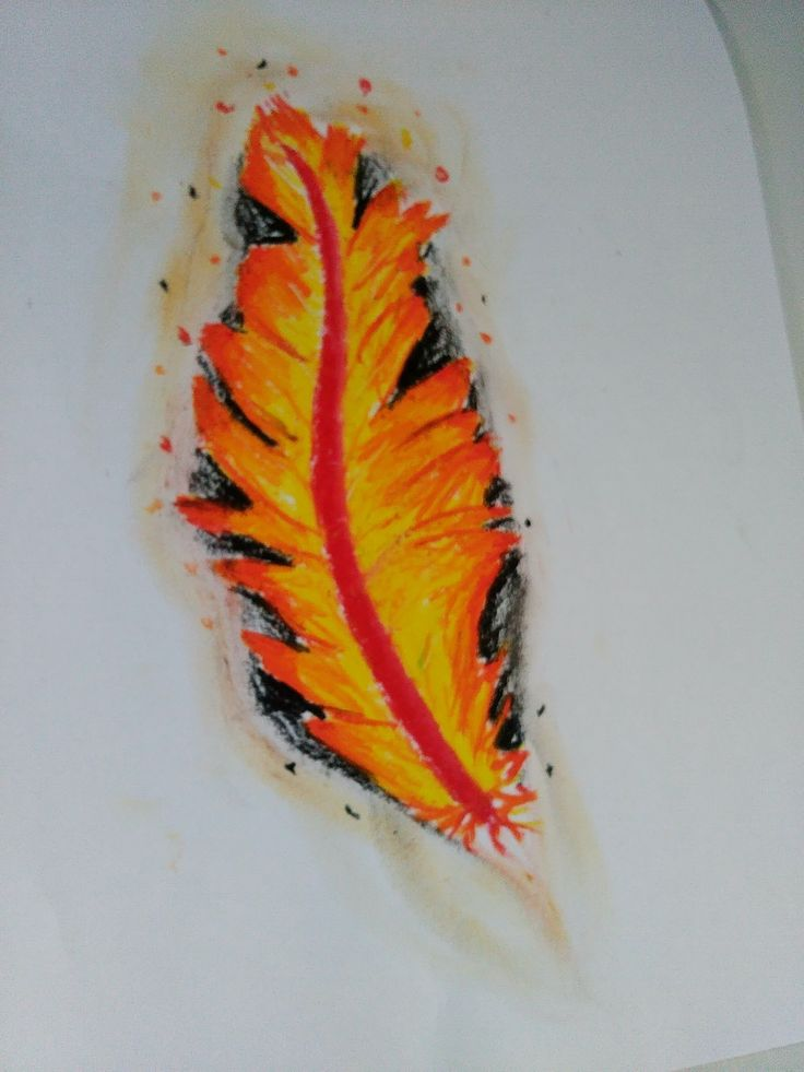 30 day drawing challenge | a mythical creature that represents you. Pastel phoenix feather