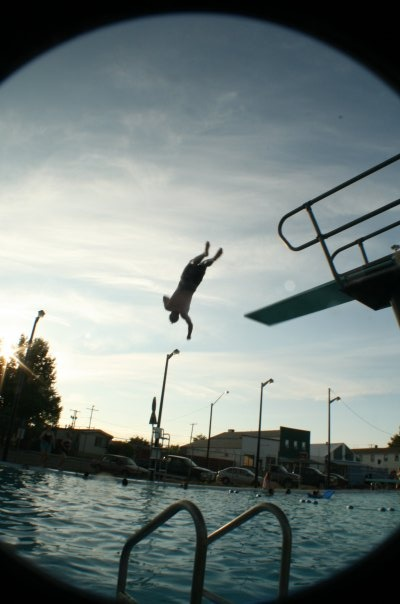 The Climax Pool - being the first of my siblings to jump off of the high-dive. Photo credit: Kyle Nelson