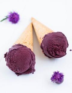 Domowe lody jagodowe  #recipe #panitereska #lody #lato
