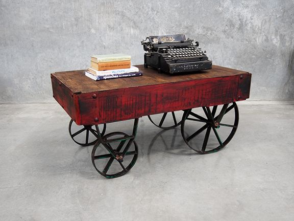 This Industrial Coffee Table Is An Absolute Gem. Modeled On The Traditional  Cart Designed Used During The Industrial Revolution, This Vintage Style  Table Is ...