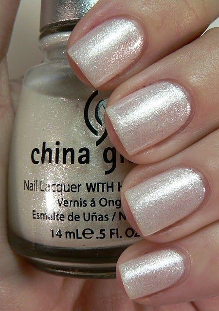 nice China Glaze Frosty - ugh there's no better polish than a super sparkly neutr...
