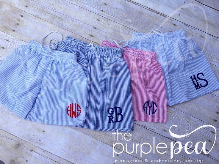 Boys Swimsuit ~ Monogrammed swimsuit ~ Girls Bathing Suit ~ Monogrammed Swim suit ~ Girls Swimsuit ~ Toddler Swimsuit ~ Seersucker Swimsuit by Thepurplepeaboutique on Etsy