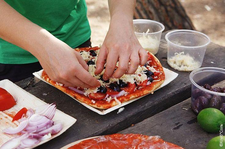 3 пиццы для пикника по=итальянски