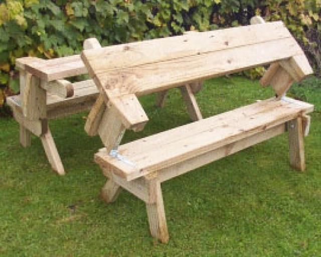 14 best folding picnic tables images on pinterest picnic for 8 picnic table plans