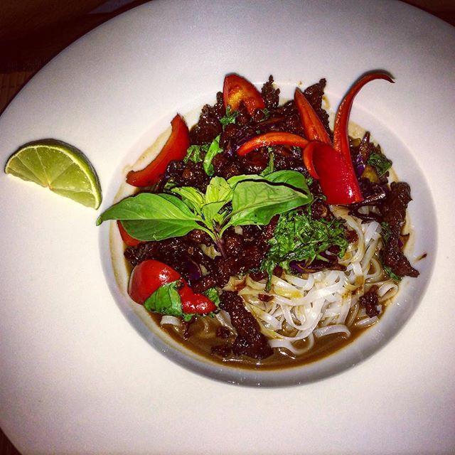 #beef #chilli #nudle #thai #restaurant #flood #delicous #praha #czechrepublic #trip #lemonleaf