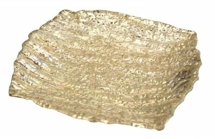 Arda Glassware 58670420 Romos Handmade 8X7 in. Square Dish Set Of 4 - Silver ... #ArdaGlassware