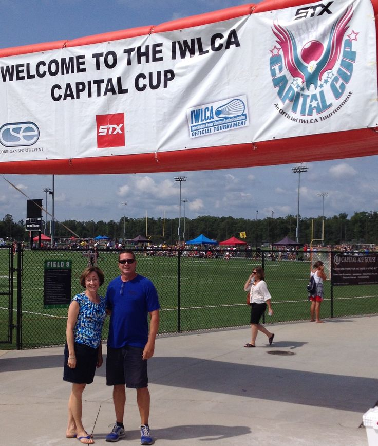 Cater Nation partner, Donna Rominiecki, with Corrigan Sports VP of Development, Don Abramson at the Capital Cup Lacrosse Tournament in Richmond earlier this month.