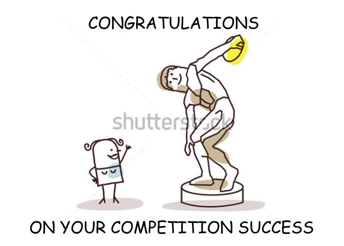 Congratulations Discus Competition Success Card Confirmation