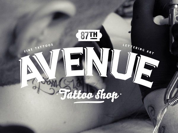 87th Avenue Tattoo shop by Fabien Laborie, via Behance - With a look like this, I would definitely trust them to give me something amazing!