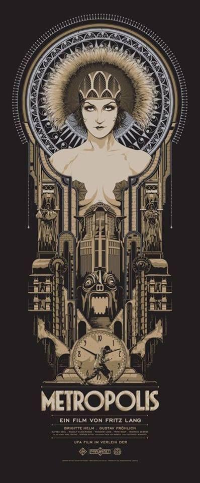 Art Déco - Affiche de film - Metropolis de Fritz Lang - 1927