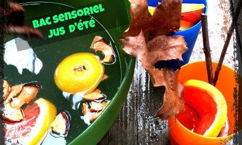 Les enfants auront bien du plaisir à créer des jus et s'amuser à vider, transvider ce jus magique. Comme les enfants joueront avec de la nourriture, on peut laisser une table où les enfants pourront manger des fruits séchés.