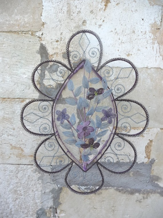 antique French funerary wreath