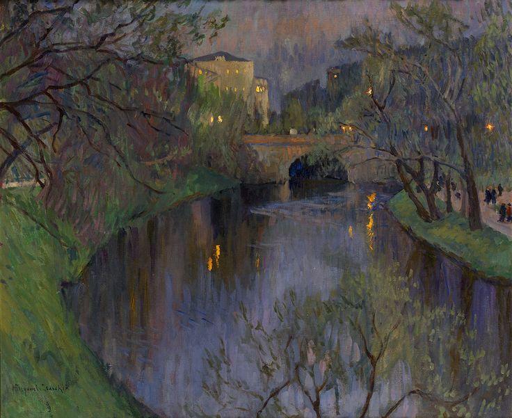 Twilight in Riga - Nikolay Bogdanov-Belsky Russian, 1868-1945