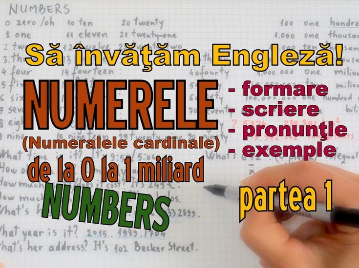 Sa invatam engleza - NUMERE/NUMBERS (pana la 1 miliard)- Let's Learn Eng...