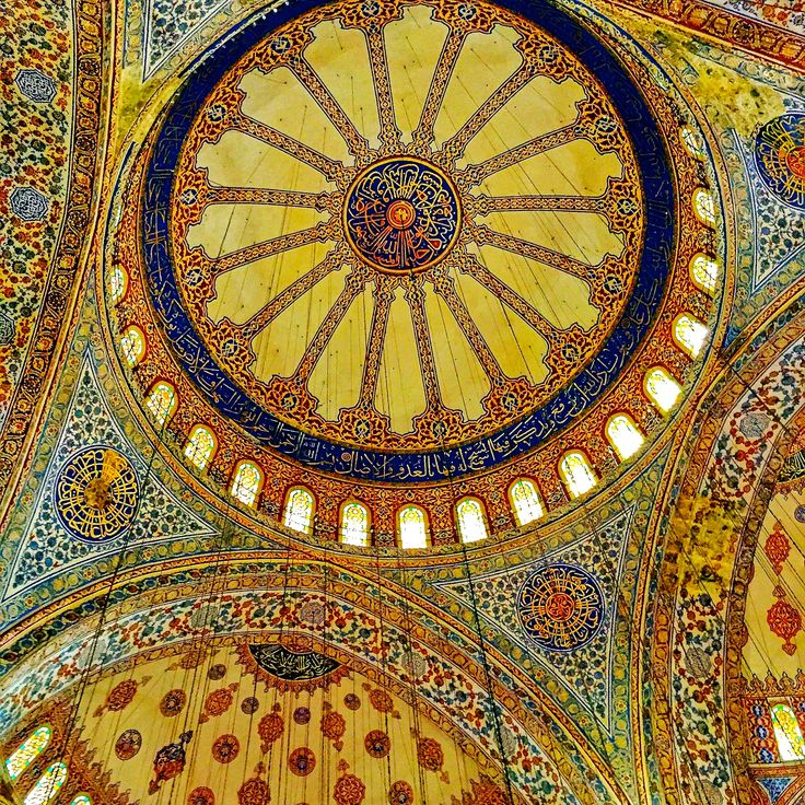 The stunning ceiling of the Blue Mosque in Sultanahmet, Istanbul, Turkey. Come read about Istanbul's amazing highlights on my luxury travel website newjetsetters.com!