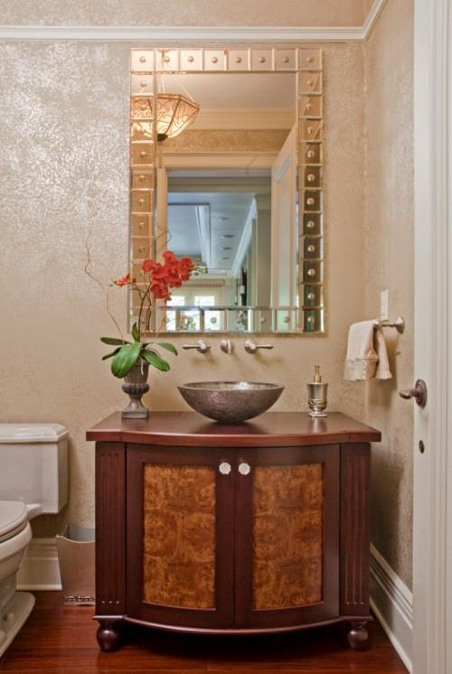 Photo Album Gallery Powder Rooms traditional powder room philadelphia by Superior Woodcraft Inc