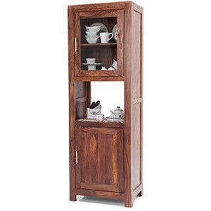 Murano Two-Door Display Cabinet (Teak Finish)