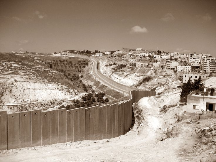 West Bank Wall. I saw this wall from a distance while we were in Israel. it definitely looked intimidating.