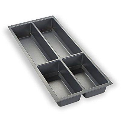 ORGA-BOX® III Besteckeinsatz Besteckkasten silbergrau für 30er Schublade z.B. Nobilia ab 2013 (473,5 x 194 mm)