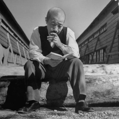 Former Japanese War Minister Hideki Tojo, in Yard of Omira Prison for War Crimes