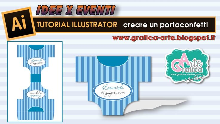 IDEE X EVENTI creare un portaconfetti per Battesimo - Tut. Illustrator 11