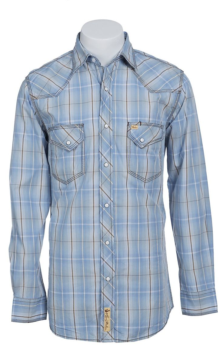 Larry mahan mens l s western snap shirt lmx1411104s big for Mens tall western shirts