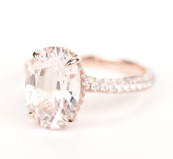 Peach Sapphire & Diamond by SundariGems on Etsy,com, £5000 Blake Lively style