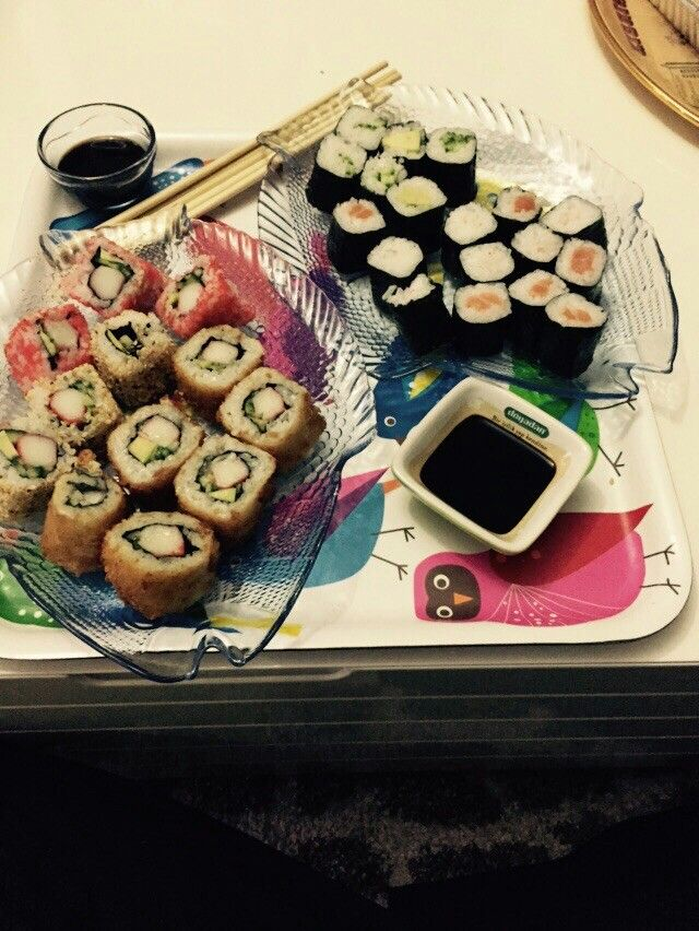 #sushi#barbekü#karides#fisch