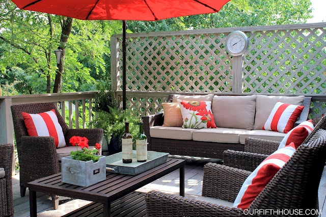 Outdoor Living Accent Colors And Decks On Pinterest