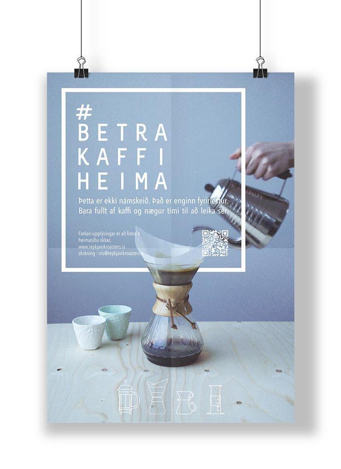 Reykjavik Roasters poster by graphic designer, Julie Gasiglia