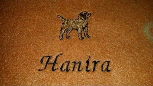 Hunde-Halstuch Haniel Stickerei
