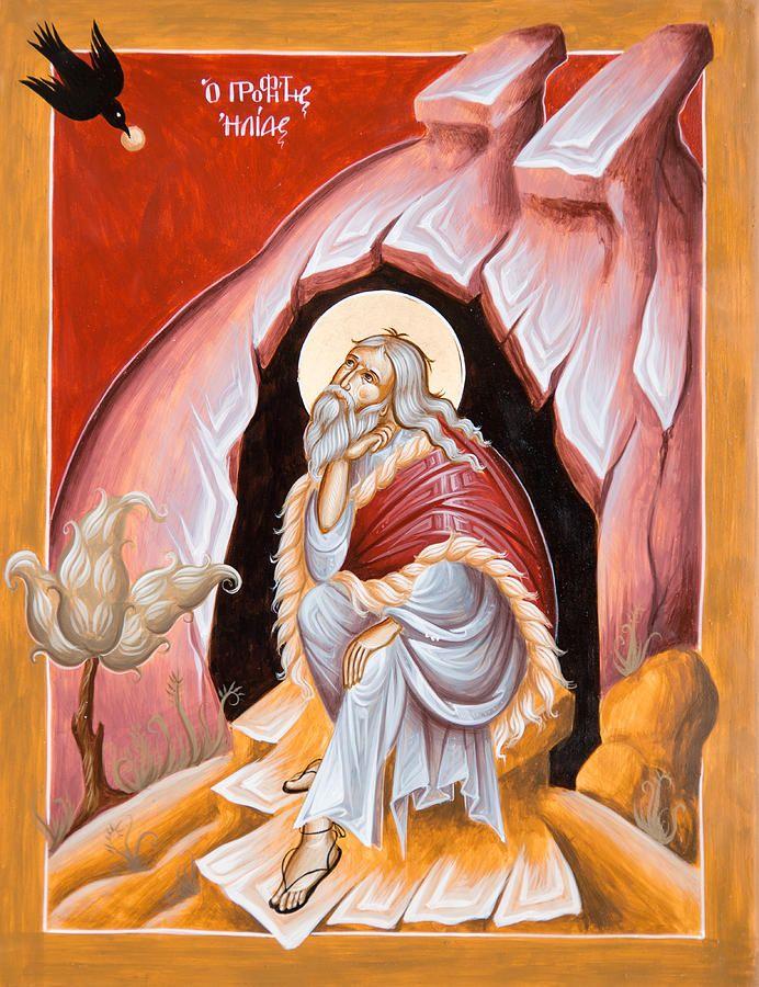 Prophet Elijah  Painting by Julia Bridget Hayes