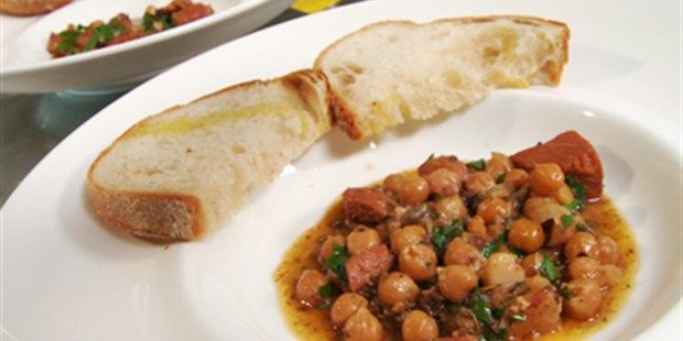 Miguel's Cocido Medileno (Spanish Pork and Chickpea Hot Pot)