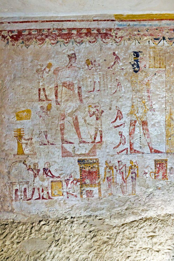 https://flic.kr/p/nFNohU   Tomb of Amenemipet   Wall in the tomb of Amenemipet, Luxor West Bank, Egypt
