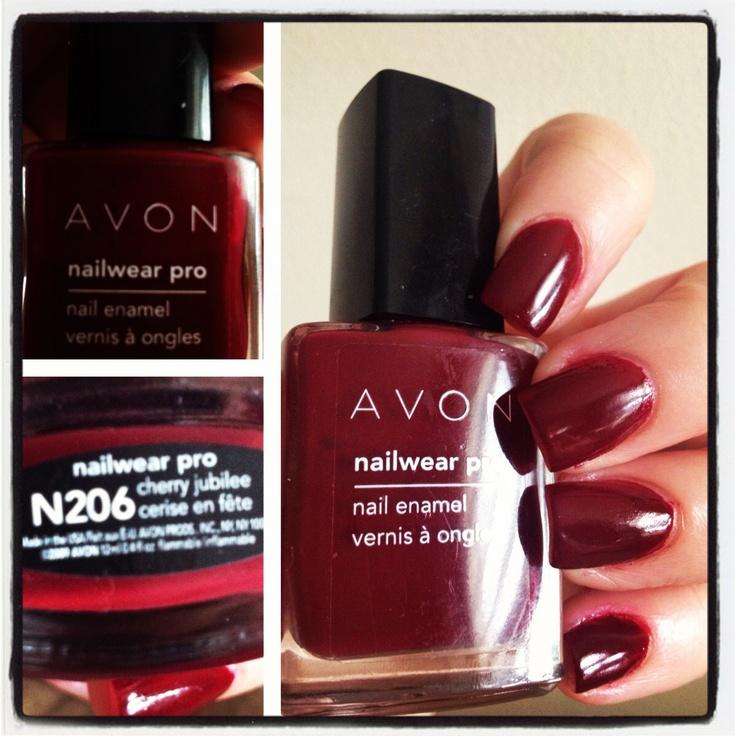 Nail Polish Catalog: Avon Nailwear Pro: Cherry Jubilee