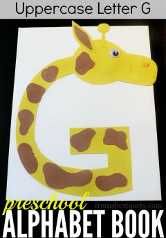 What could be cuter than a giraffe made out of the letter G?! This fun preschool craft is super easy to make and perfect for practicing the alphabet!