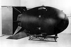 "Replica of the original ""Fat Man"" Nuke"