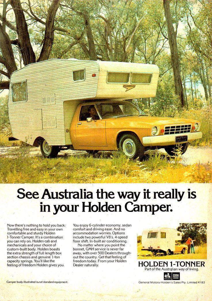 https://flic.kr/p/EoKdsJ   '75 HJ Holden 1 Tonner Camper Aussie Magazine Advertisement