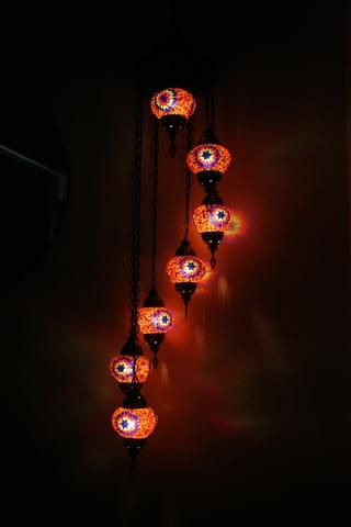 Turkish Spiral Mosaic 7 Piece Light