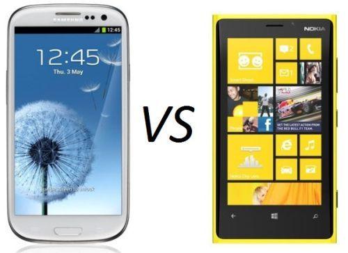 Galaxy S3 vs Nokia Lumia 920