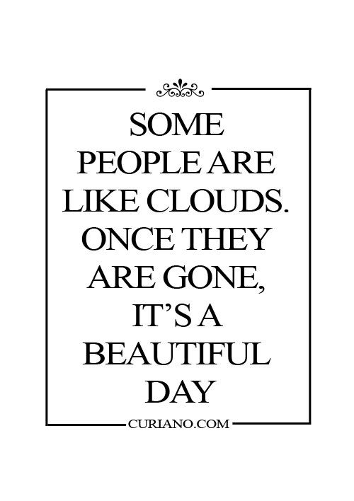People & Clouds Quote