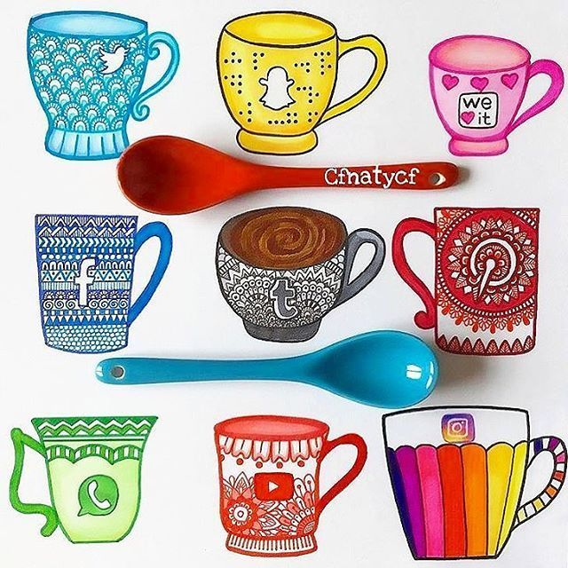 ❤Which is your favorite Social Mug!!?❤ Follow us! /dailyart/ ️Beautiful art by @cfnatycf Tag your friends!#dailyart